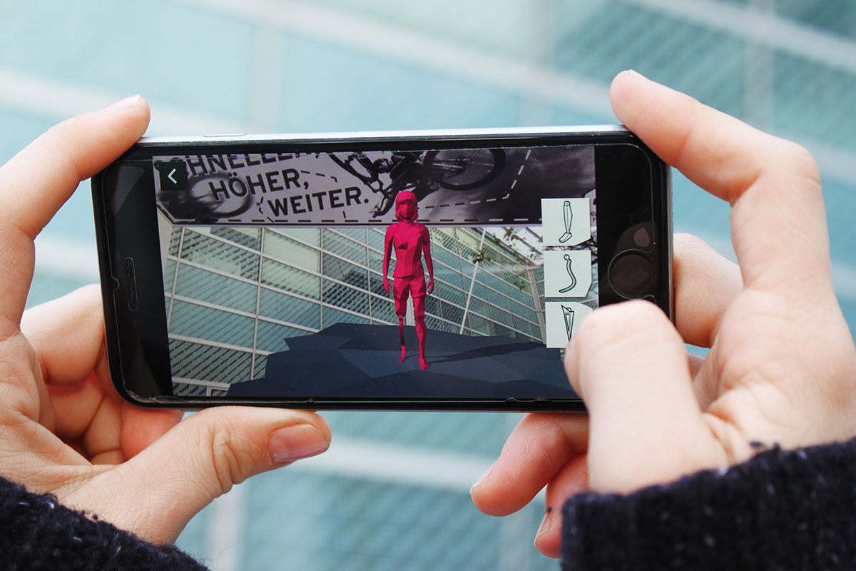 Fünf Augmented Reality-Portale aus der GREEN UP YOUR FUTURE Wanderausstellung